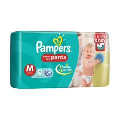 PAMPERS BABY DRY PANTS (M) 9'S